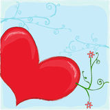 Heart. Are you notice your heart can blooming when you love Royalty Free Stock Image