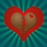 Heart. Shape created in Adobe Illustrator Royalty Free Stock Images