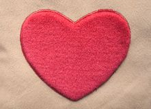 Heart. Pillow detail stock image