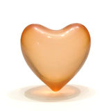 Heart. Macro of aroma-therapy heart (with oil inside, shell dissolves in hot water Royalty Free Stock Images