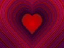 Heart. With  shaped trails Royalty Free Stock Photos