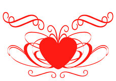 Heart. Decorated heart isolated on white background Stock Photos