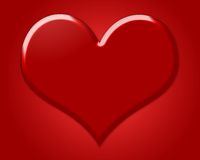 Heart. Big red Heart, symbol of Love. With red Background Vector Illustration