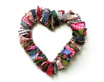 Heart. Handmade heart Stock Image