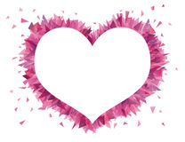 Heart. Shape of a heart from broken glass Royalty Free Stock Photography