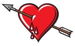 Heart. With arrow design,  with arrow Royalty Free Stock Photos