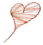 Heart. Of handmade from a decorative wire Royalty Free Stock Photography