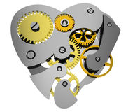 Heart 3d clock gear Royalty Free Stock Photo