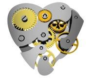 Heart 3d clock gear Royalty Free Stock Photo