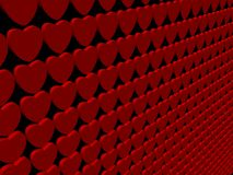Heart 3d render background Stock Photos