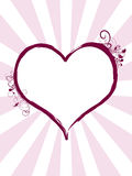 Heart. With floral motif and swirls Vector Illustration