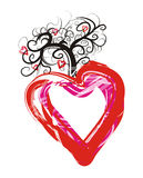 Heart. Simply Valentine's Day card Royalty Free Stock Photo