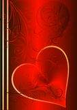 Heart. Valentines heart on red background royalty free illustration