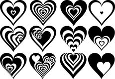 Heart. Black and white valentines heart royalty free illustration