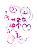 Heart. Vector abstract inscription heart with pattern Stock Images