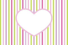 Heart. Big heart with colorful stripes Royalty Free Stock Image