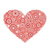 Heart. Shape with vector swirls and scrolls Stock Photo