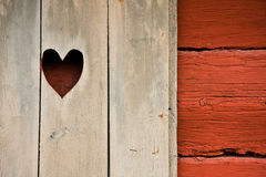 Heart. Symbol in a cottage's shutter Royalty Free Stock Images