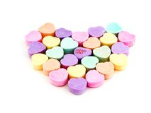Heart. Isolated candy hearts with room for copy ,text Royalty Free Stock Photography