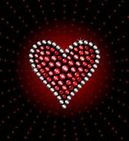 Heart. Precious heart with brilliants and rubies vector illustration