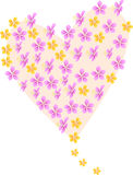 Heart. The vector illustration containing the flower of the heatr Royalty Free Stock Image