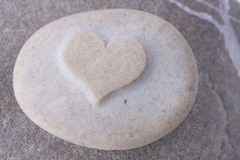 Heart. A grey heart shaped stone Stock Photo