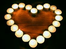 Heart. Of a little candles Royalty Free Stock Photo
