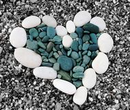 Heart. A heart is made from the stone of different color Stock Photography