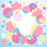 Heart. Composition, illustration with heart, flowers and circles Royalty Free Stock Photo