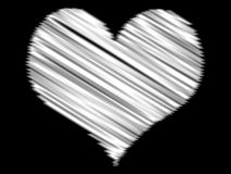 Heart. Abstract lovers background - blurring heart lines Royalty Free Illustration