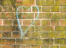 Heart. On wall Royalty Free Stock Images