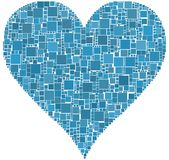 Heart. The heart is composed of a mesh of coloured square Royalty Free Stock Images