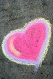 Heart. Sidewalk Chalk Heart stock image