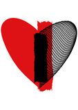 Heart. In love networks. love a life symbol on the earth Stock Photo