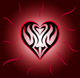 Heart. Vector illustration of a heart. Cool tattoo Royalty Free Stock Photography