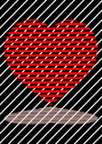 Heart. In love networks. love a life symbol on the earth Royalty Free Stock Photo