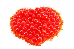 Heart. Close up of the beads and corals. Heart. Valentine's day Royalty Free Stock Photos