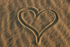 Heart. On the sand stock photo