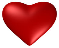 Heart with. Red heart with clipping path vector illustration