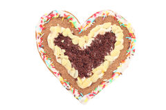 Heart. Homemade gingerbread heart isolated (with clipping path Royalty Free Stock Image