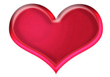 Heart. Raster illustration of one candy style heart shape Stock Images