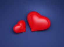 Heart. On a dark blue background Royalty Free Stock Photo