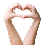 Heart. Symbol of heart made from hands Stock Photo