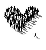 Heart. Illustration of some people Royalty Free Stock Images