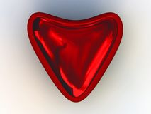 Heart. Red reflecttion heart on the white background Royalty Free Stock Photo