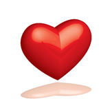 Heart. Vector illustrated glossy 3D heart Stock Photography