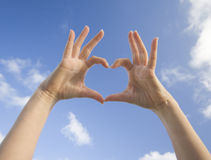 Heart. Hands made a heart shape Royalty Free Stock Images