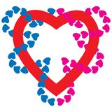 Heart. Heart with little colored hearts around Royalty Free Stock Photo