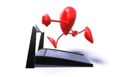 Heart. 3D generated running heart Stock Photos