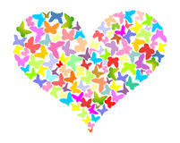 Heart. Colour butterflies in the form of heart Stock Images